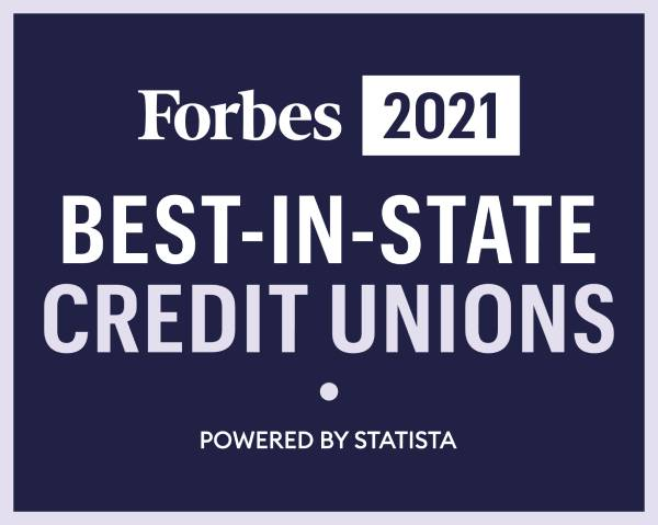 Logo of Forbes Top Credit Union 2021